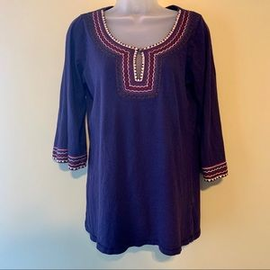 Lucky Brand Embroidered Tunic, Size Small
